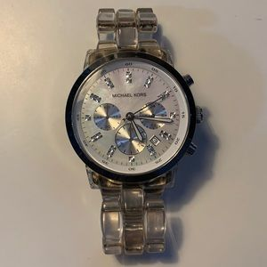 Michael Kors Clear Acrylic Watch